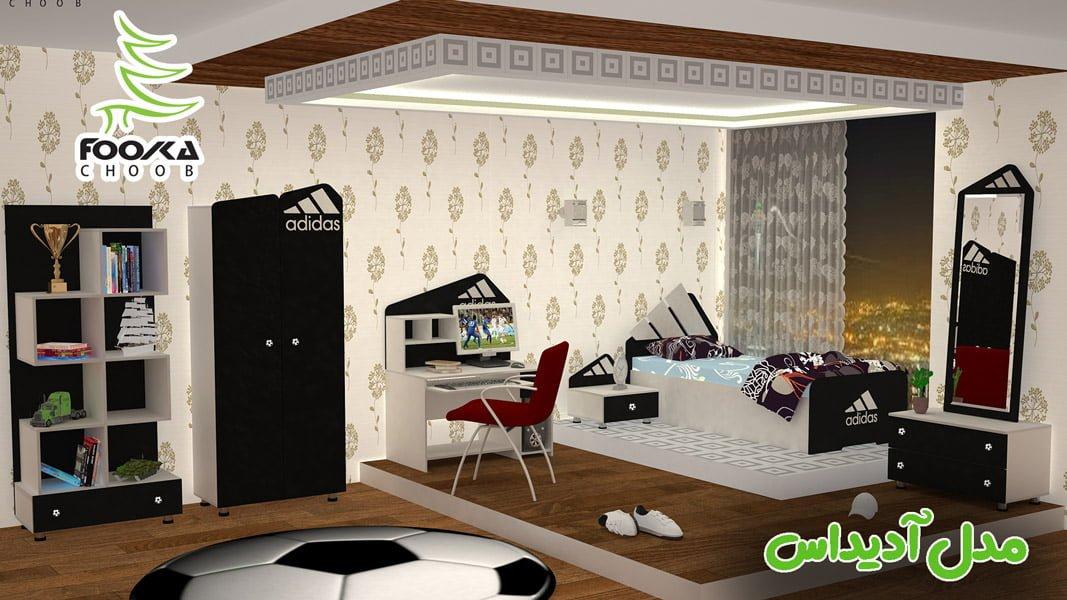 طراحی اتاق خواب نوجوان مدل آدیداس
