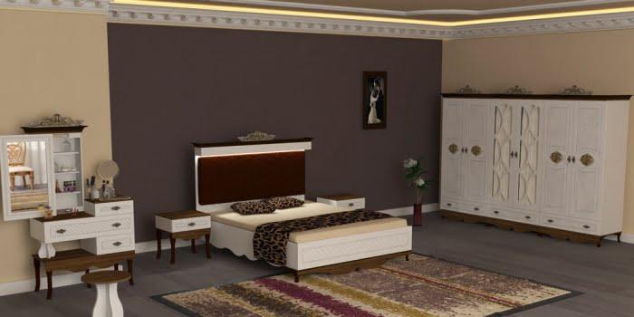 عکس سرویس خواب چوبی پانیذ مدل کلاسیک