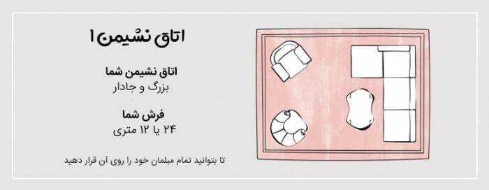 فرش برای اتاق نشیمن