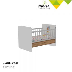 تخت نوزاد مدل هپی همراه با محافظ کودک