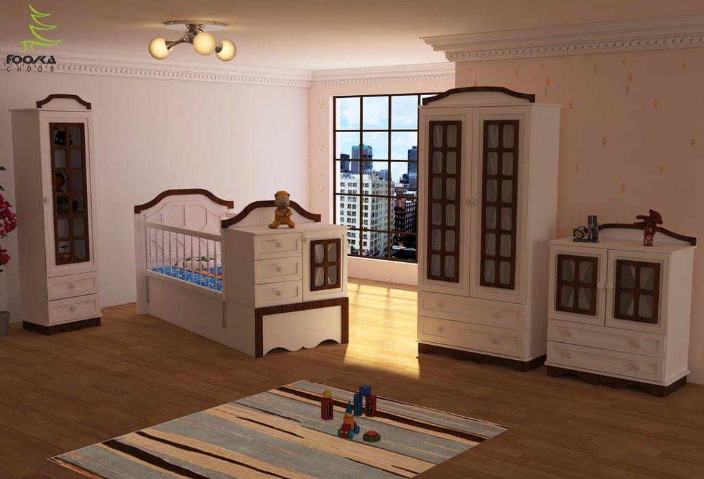 سرویس چوبی نوزاد مدل شاتی