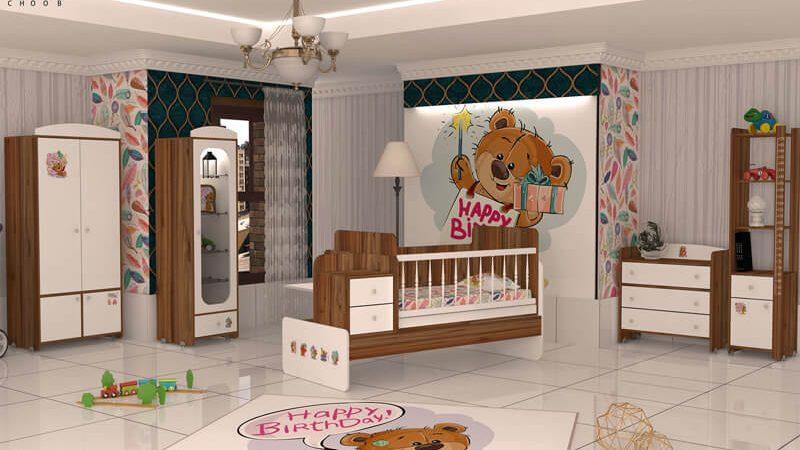 سرویس خواب نوزاد مدل هپی