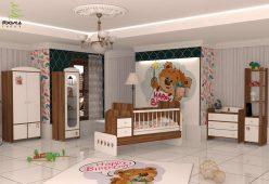 سرویس چوبی نوزاد مدل هپی