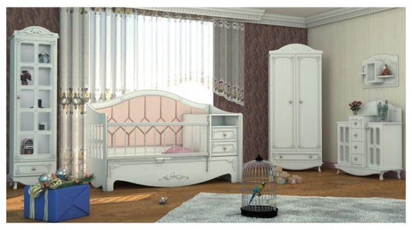 تاثیر سادگی سرویس خواب نوزاد در طراحی اتاق کودک