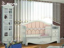 تخت مبلی نوزاد پسرانه به همراه ویترین تک درب نوزادی پسرانه