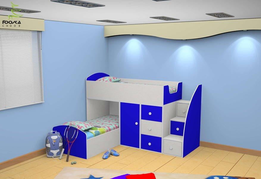 تخت دو طبقه کودک مدل ال