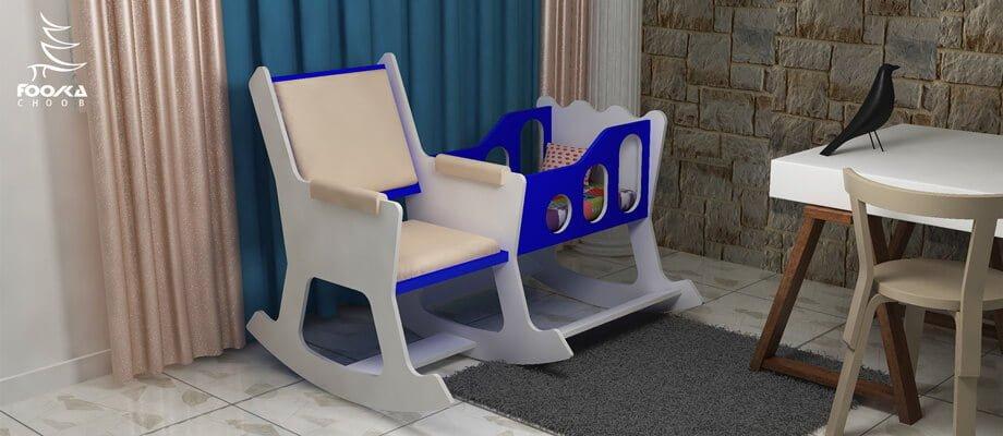 تخت نوزادی و صندلی شیردهی مدل مارتی