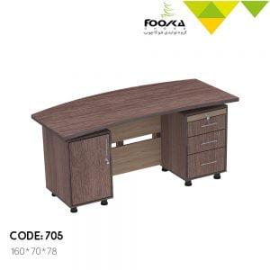 میز مدیریت مدل شهرام دارای سه کشو و یک درب کمدی در زیر میز