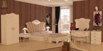 سرویس خواب چوبی مدرن و ترکیه ای مدل آلتون
