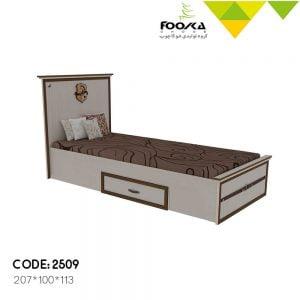 تخت اتاق جوان رنگ کرم با یک کشو زیر تخت مدل سیاوش