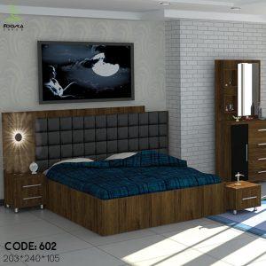 تخت خواب دونفره مدل آنتیک