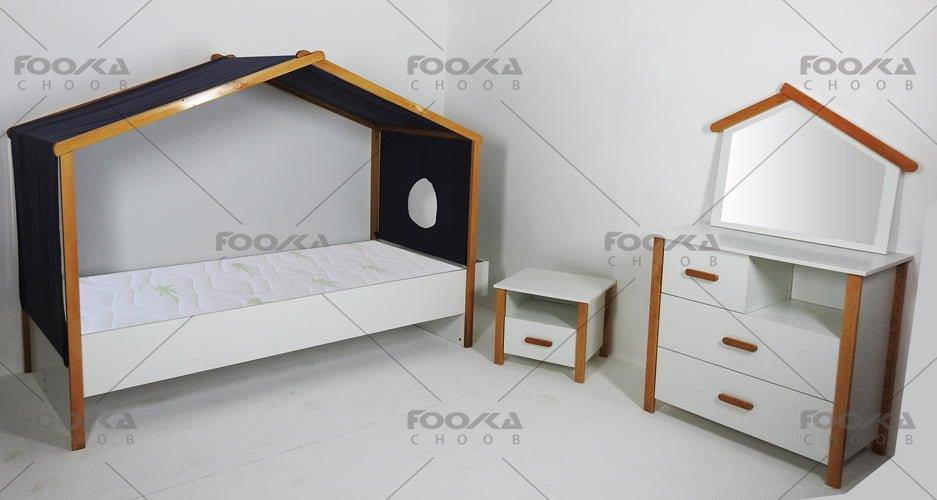 اتاق نوجوان با چیدمان سرویس خواب مدل کلبه