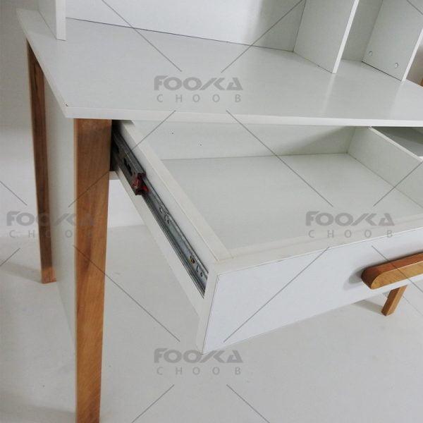 میز تحریر اتاق نوجوان مدل کلبه رنگ سفید